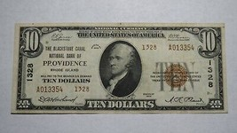 $10 1929 Providence Rhode Island RI National Currency Bank Note Bill Ch.... - $140.24
