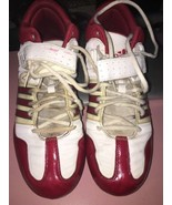 Adidas Performance Brute Force 2 Fly Mid Lacrosse Cleats, White/Red Sz 9.5 - $19.39
