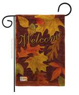 Fall Leaves Burlap - Impressions Decorative Garden Flag G163047-DB - $22.97