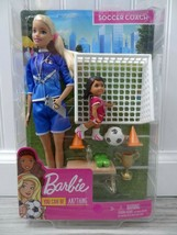 BARBIE You can be Anything SOCCER COACH PLAYSET wtih 2 dolls and accesso... - $10.89
