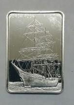 Gorch Fock Silver art ingot bar Colonial Mint Lot# N 514