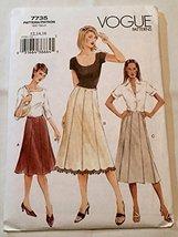 Vogue 7735 Misses' / Misses' Petite Skirt Size 12-14-16 - $17.64