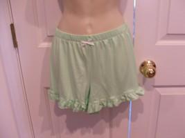 NWT Pj Couture  green ruffled  Hem Pajama Bottoms Shorts  - Sleepwear  j... - $9.50