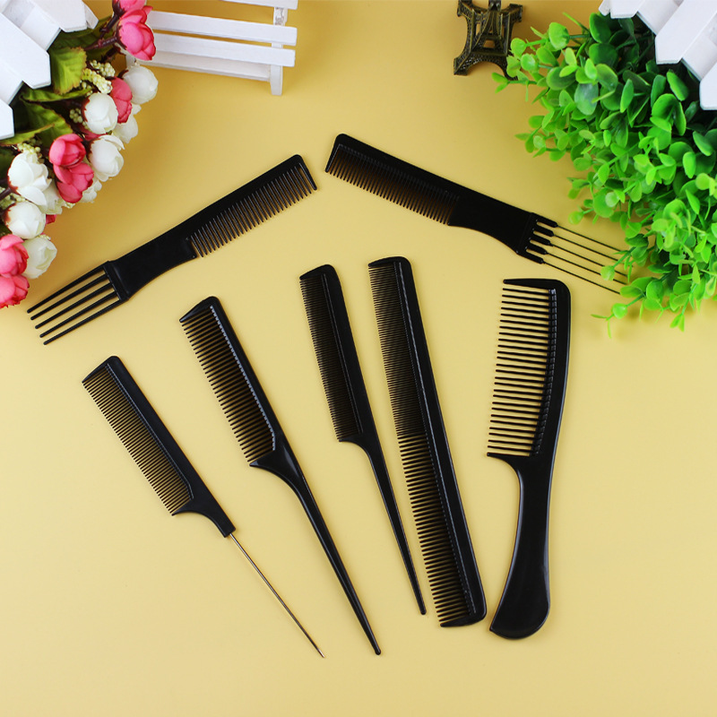 10 PCS Anti-static Plastic Hair Comb Suit