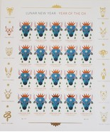 Lunar New Year of the OX- (USPS) 20 Forever Stamp Sheet - $15.95