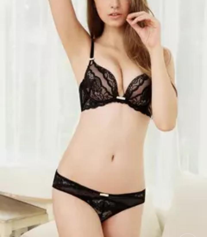 Bra set women Halter ultra-thin Underwear Lingerie 32 34 36 38 ABC Cups Lace