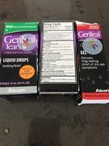 2 Pk GenTeal Tears MILD Dry Eye Symptom Relief Liquid Drops + Lubricant ... - $21.77
