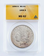 1896 $1 Silver Morgan Dollar Graded by ANACS as MS-62! Nice Looking Morgan! - $64.34