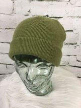 Green Beanie Hat Cap Warm Long Roll Over - $9.89