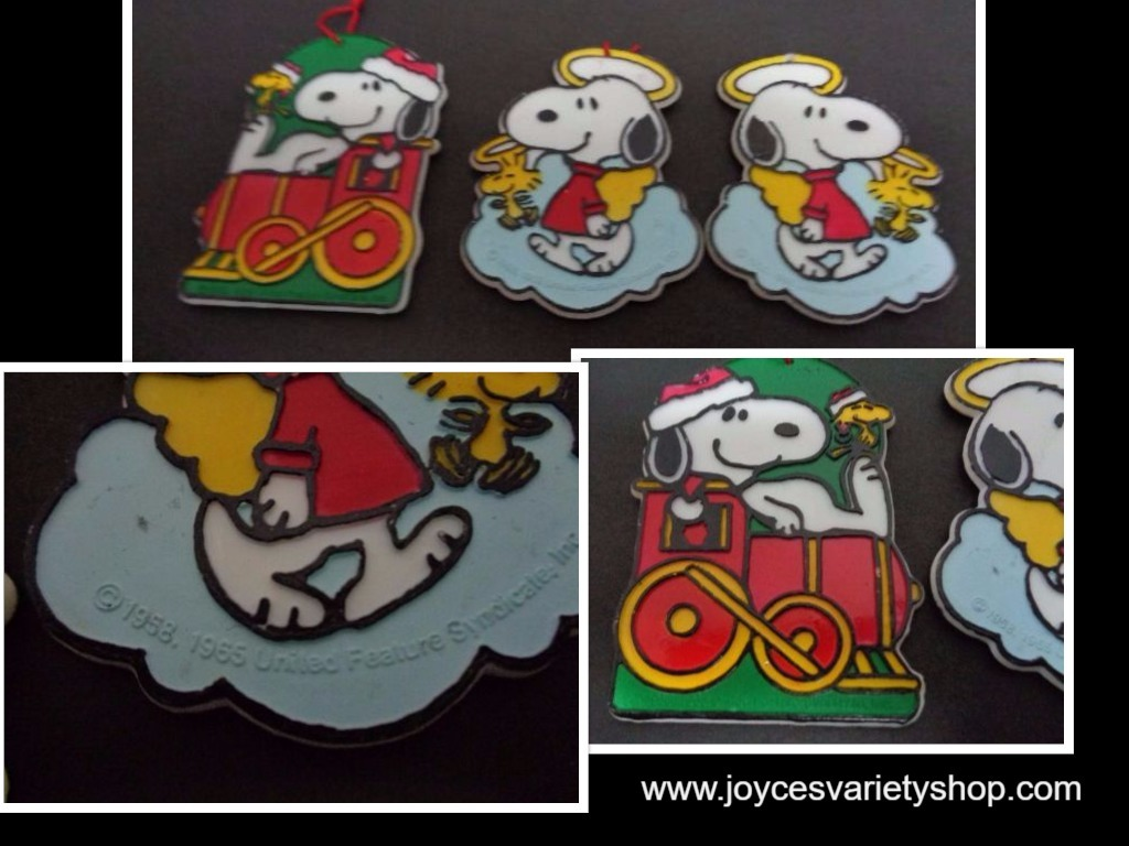 Snoopy ornaments collage 2017 10 30