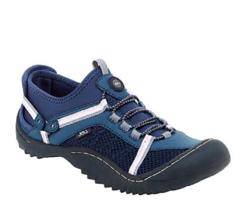 New Jambu Navy Pink Vegan Leather Walking Sneakers Size 7.5 M $69 - $32.91