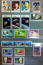 Stamps 200, 8 sets of 25 Space 1962-1971 Dubai Rwanda Ras Al Khaima Mong... - $55.00