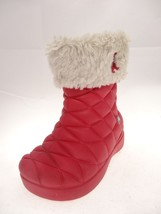 Crocs Super Molded Cuffed Puff Quilted Boots dark pink GIRLS SIZE 7 C pull on - $24.09