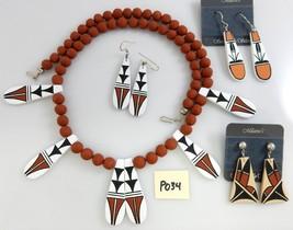New Southwest Jemez Pueblo Handmade Ceramic Jewelry Wholesale Closeout L... - $76.00