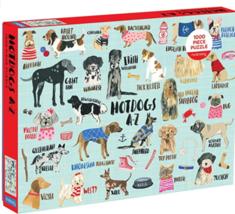 Mudpuppy Hot Dogs A-Z Puzzle, 1,000 Piece Dog Jigsaw Puzzle - $38.95