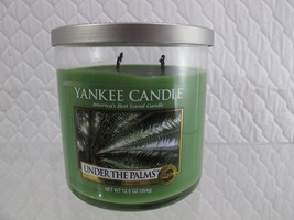 YANKEE CANDLE UNDER THE PALMS 12.5OZ PERFECT CANDLE LIT ONE TIME        ... - $9.74