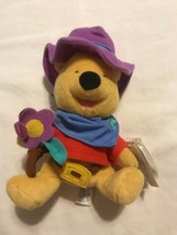 TagsMattel 2000 RIDE EM COWBOY Winnie The POOH Plush BEAN BAG Disney Stu... - $8.42