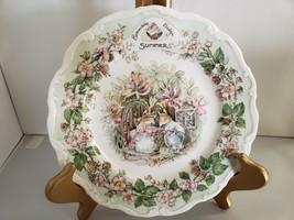 "Royal Doulton Brambly Hedge ""Summer"" Four Seasons Plate Jill Barklem 1982 Vintag - $37.40"