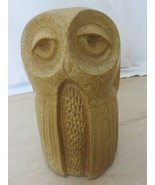 Vintage 70s Large Clay Ceramic Owl Figurine Statue Home Decor 9 1/2 inch... - $69.25
