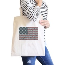 50 States Us Flag Natural Washable Canvas Tote Bag 4th Of July Gift - $15.99