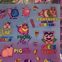S405 MINT Lisa Frank Sassy Pigs Silly Sender Stickers Fulll Sheets Rare HTF 80s image 2