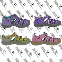 KEEN GIRLS KIDS YOUTH WHISPER HOOK AND LOOP TEXTILE WEBBING SANDALS  US 1 - $14.99+