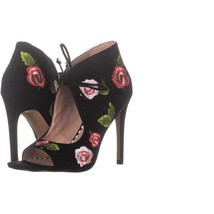 Betsey Johnson Caroline Slim Heel Sandals 197, Black, 6 US - $24.95