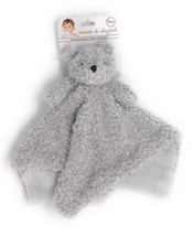 "Blankets & Beyond Fuzzy Grey Bear Security Blanket 14"" x 14"" Plush - $32.35 CAD"