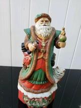A Merry Old Soul Christmas Music Box Porcelain Santa Musical Figurine 10... - $19.75