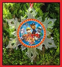 Paw Patrol Christmas Ornament - X-MAS Snowflake Ornament - $12.95