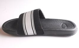 NEW C9 YOUTH CUSHION LITE BLACK/WHITE SLIP ON SANDALS SIZE L 4/5 image 3
