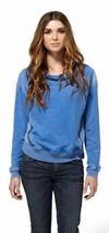 Dc Scarpe Co.Adolescenti Donna Blu Freccia Pile Top Pullover Felpa ADJFT00018 image 2