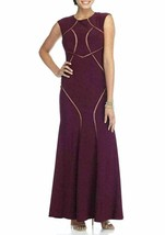 Xscape Long Ity Cap Sleeve Illusion Insets Gown Sz 2P - $106.25