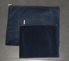 Tallit Tefillin Bag Case Set Plush Velvet Blue Jerusalem View Embroidery Judaica image 4