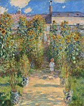 The Artist's Garden at Vetheuil Painting by Claude Monet Art Reproduction - $32.99+