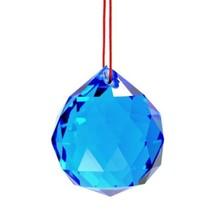 Bleu Feng Shui Suspendus Boule de Cristal 3.8cm 40mm Sphère Prism à Face... - $5.87