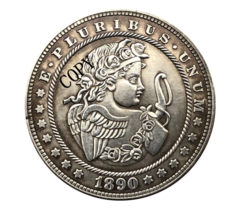 Hobo Nickel 1890-CC USA Morgan Dollar The Angel Lucky COPPY COIN For Gift - $5.99