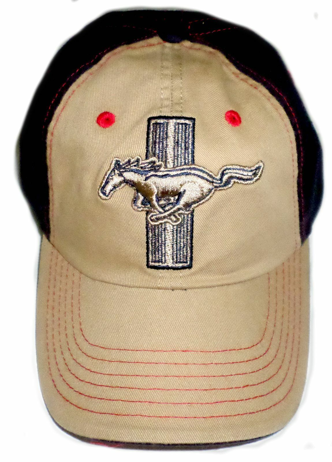 Ford Mustang 2016 Men's Blue & Tan Hat Adjustable CFS -