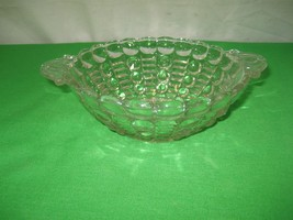 Vintage Clear Glass Relish or Candy Dish Round Bowl Scalloped Edges & Ha... - $7.66