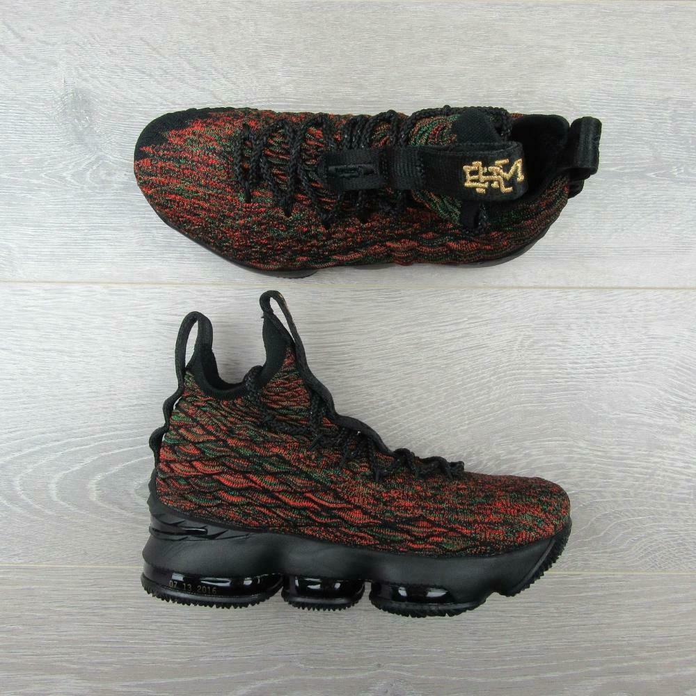 Nike Lebron XV Limited BHM GS Basketball Shoes Size 6.5Y Black Red 943762 900