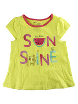 First Impressions Baby Girls ''Hello Sunshine'' Flutter-Sleeve Yellow T-Shirt - $9.00