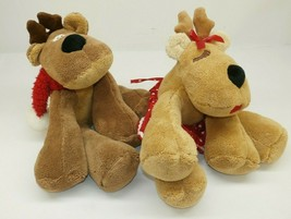 "Hallmark Christmas Rhonda & Rodney Reindeer 14"" Plush Stuffed Animals Se... - $19.79"