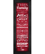 "Ohio Wesleyan University ""Bishops"" 24 x 8 Family Cheer Framed Print - $39.95"
