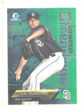 Cal Quantrill RC 2018 Bowman Chrome Green MOJO Refractor Rookie#28/99-Pa... - $19.79
