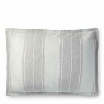"Ralph Lauren Oakview Striped Pillow Sham Pewter Graphite Standard 20"" x 28"" - $76.51"