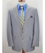 Vintage ADAMS ROW Mens 44R/44 R Wool Suit Jacket/Blazer Gray Pinstripe U... - $24.49