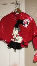 Minnie Mouse Tip & SHAWL--GIRLS Size 6--GLITTER --LONG SLEEVE-----FREE SHIP--NEW - $17.20