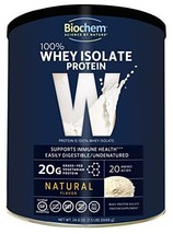 Biochem 100% Whey Isolate Protein - Natural Flavor - 24.6 oz - Pre & Post Workou - $80.89