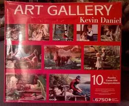 NEW ART GALLERY 10 in 1 KEVIN DANIEL jigsaw puzzle cassette hours of fun! - $14.99