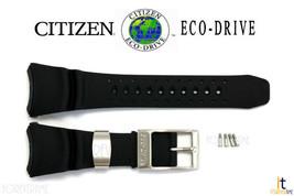 Citizen Eco-Drive BJ8050-08E Black Rubber Watch Band BJ8051-05E w/ Screws - $99.95